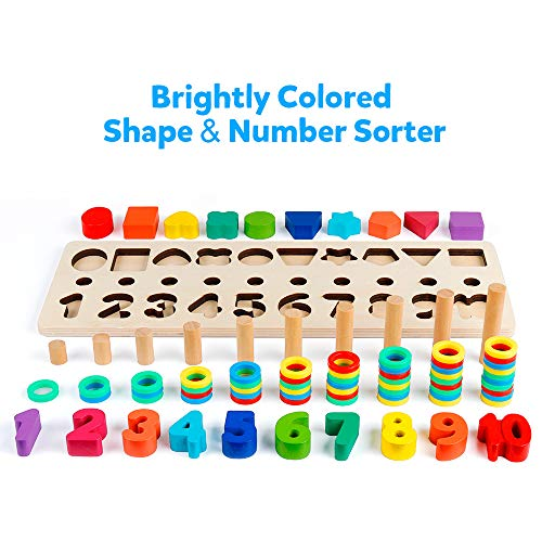 Montessori Toys for Toddlers and Preschool Kids Camkey Peg Board Set 30pg Occupational Therapy Fine Motor Skills Activity Pegboard Download Sorting Counting 30 Pegs for Learning Colors