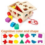 Ages 12 Months and Up OSPORTFUN Kids Car Shape Sorter Toys Puzzle Baby Educational Wooden Toy Colorful Childrens Building Blocks